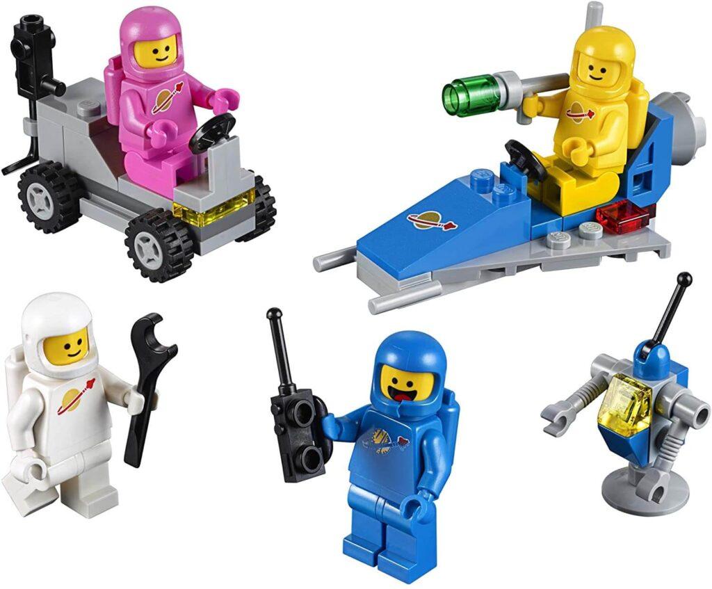 Lego Weltraum Team aufgebaut